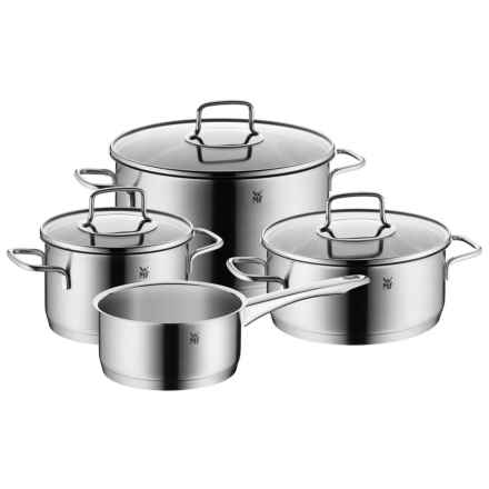 WMF Merano Stainless Steel Cookware Set - 7-Piece in Stainless - Overstock