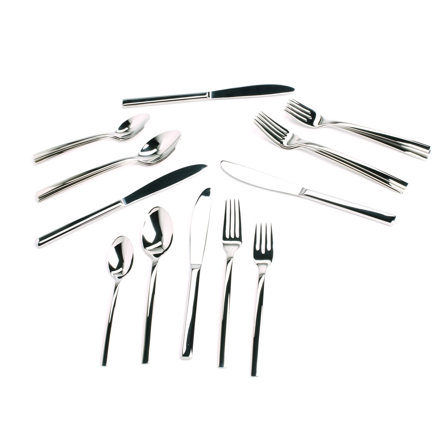 wmf miami flatware set cromargan 18 10 stainless steel 20 piece save 68. Black Bedroom Furniture Sets. Home Design Ideas