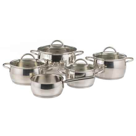 WMF Nobile Stainless Steel Cookware Set - 9-Piece in Stainless Steel - Overstock