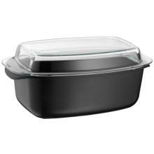 "WMF ProfiSelect Covered Roasting Pan with Lid - 15x9"" in Black - Overstock"
