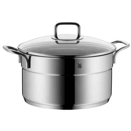 "WMF ProfiSelect High Casserole Pot with Lid - 10"" in Stainless Steel - Closeouts"