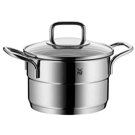 "WMF ProfiSelect High Casserole Pot with Lid - 6-1/2"" in Stainless Steel - Closeouts"