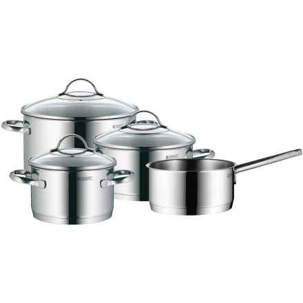 WMF Provence Plus Starter Cookware Set - Cromargan® 18/10 Stainless Steel, 7-Piece in Stainless Steel - Overstock