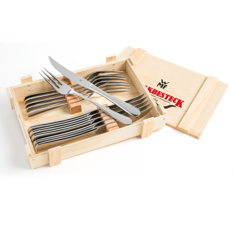 Wmf signum steak knife and fork gift set 12 piece save 53 - Knife and fork sets ...