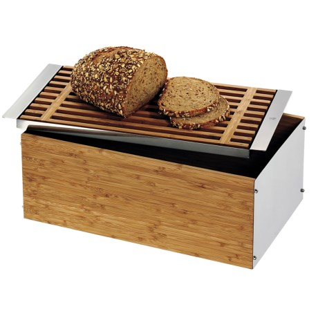 WMF Stainless Steel and Bamboo Bread Bin