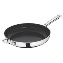 "WMF Stainless Steel Frying Pan - Nonstick Ceramic Coating, 12.5"" in Stainless Steel - Closeouts"
