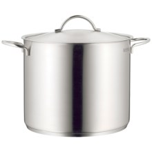WMF Stainless Steel Stock Pot with Lid - 14.75 qt. in Stainless - Overstock