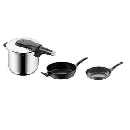 WMF Ultimate Pressure Cooking and Frying Pan Set - 3-Piece in See Photo - Closeouts