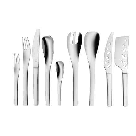 WMF Vela Flatware Set - 18/10 Stainless Steel, 44-Piece in Stainless Steel - Closeouts
