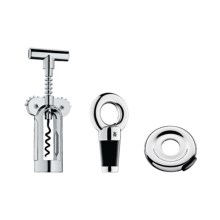 WMF Vino Basic Wine Set - Corkscrew, Foil Cutter and Bottle Stopper in Stainless - Overstock