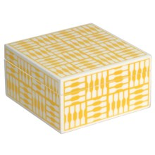 WOLF 1970 Collection Trinket Box - Medium, Wood in Yellow - Closeouts