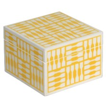 WOLF 1970 Collection Trinket Box - Small, Wood in Yellow - Closeouts