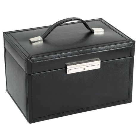 WOLF Queens Court Collection Jewelry Box Medium, Saffiano Leather