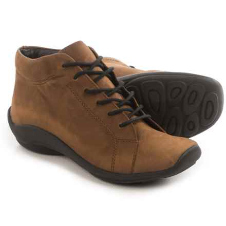 Wolky Abby Ankle Boots - Leather (For Women) in Chocolate - Closeouts