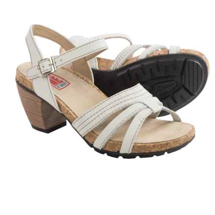 Wolky Aden Leather Sandals (For Women) in Off White - Closeouts