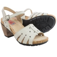 Wolky Aqaba Leather Sandals (For Women) in Off White - Closeouts
