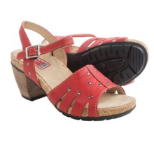 Wolky Aqaba Leather Sandals (For Women) in Red - Closeouts