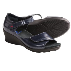 Wolky Ardor Wedge Sandals (For Women) in Black Nubuck