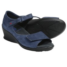 Wolky Ardor Wedge Sandals (For Women) in Jeans Blue Nubuck - Closeouts