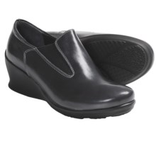 Wolky Aspire Wedge Heel Shoes - Leather (For Women) in Grey Patent - Closeouts