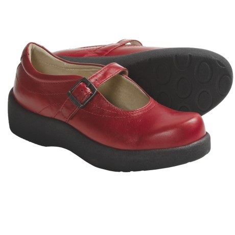 Wolky Assen Mary Jane Shoes - Leather (For Women) in Red Leather