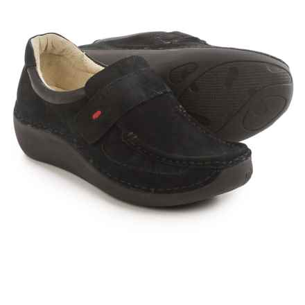 Wolky Belinda Moccasins - Nubuck (For Women) in Black - Closeouts