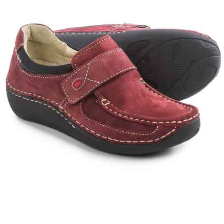 Wolky Belinda Moccasins - Nubuck (For Women) in Oxblood - Closeouts