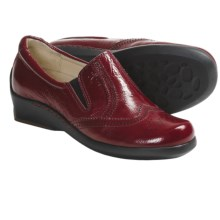 Wolky Berlin Shoes - Leather, Slip-Ons (For Women) in Red Wrinkled - Closeouts