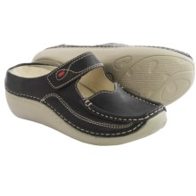 Wolky Char Leather Shoes - Slip-Ons (For Women) in Black - Closeouts