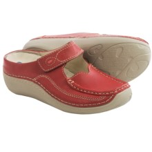 Wolky Char Leather Shoes - Slip-Ons (For Women) in Red - Closeouts