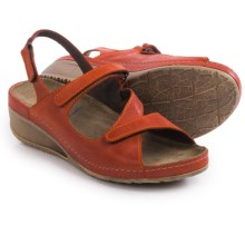 Wolky Churley Sling-Back Sandals (For Women) in Red/Orange - Closeouts