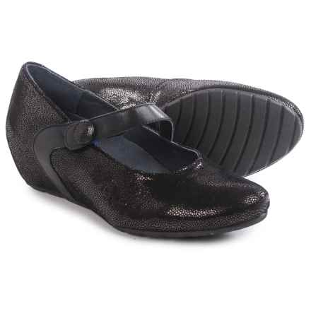 Wolky Daphne Mary Jane Shoes - Leather (For Women) in Black - Closeouts