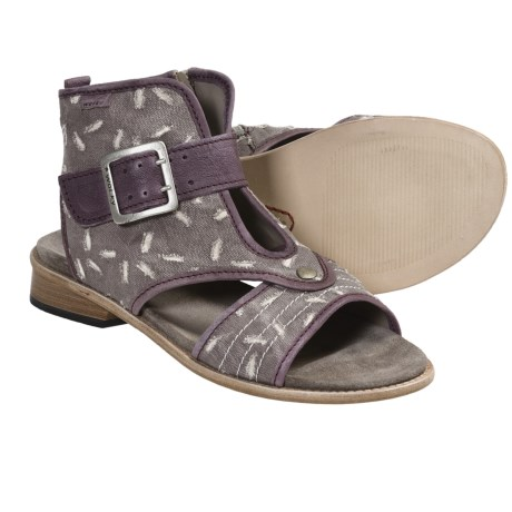 Wolky Dayton Sandals (For Women) in Lilac Canvas