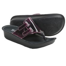 Wolky Escape Sandals (For Women) in Purple Marbled Patent - Closeouts