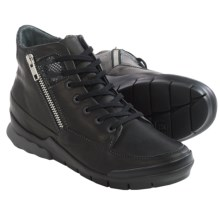 Wolky Fast Sneakers (For Women) in Black Velvet Leather - Closeouts