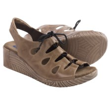 Wolky Fogo Wedge Sandals - Leather (For Women) in Walnut Brushed - Closeouts