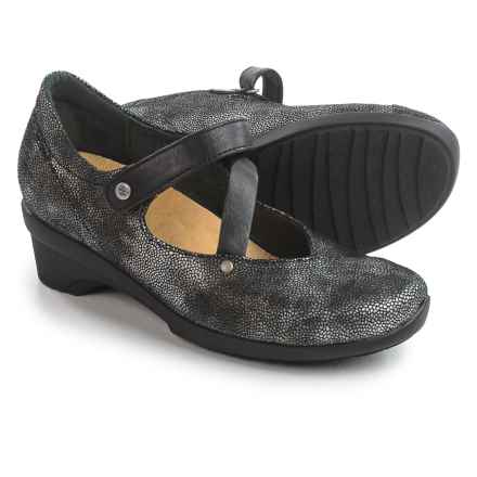 Wolky Georgia Mary Jane Shoes - Leather (For Women) in Black - Closeouts