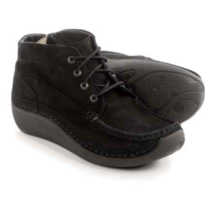 Wolky Gina Ankle Boots - Nubuck (For Women) in Black - Closeouts