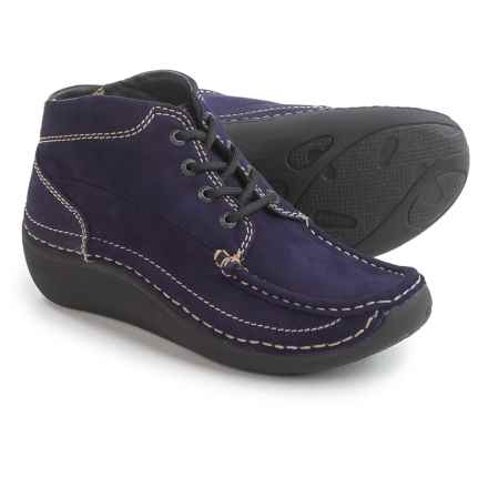 Wolky Gina Ankle Boots - Nubuck (For Women) in Purple - Closeouts