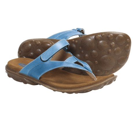Wolky Heaven Sandals - Leather (For Women) in Avid Blue 2 Tone