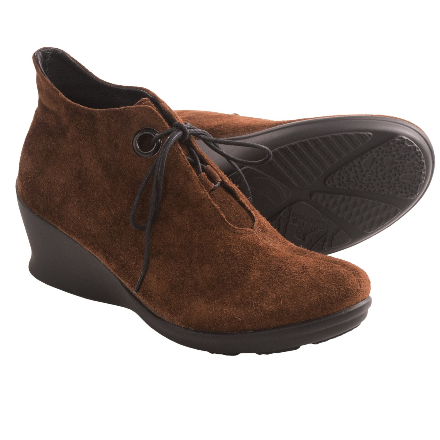 Wolky Hope Wedge Shoes (For Women) in Caf  Brown