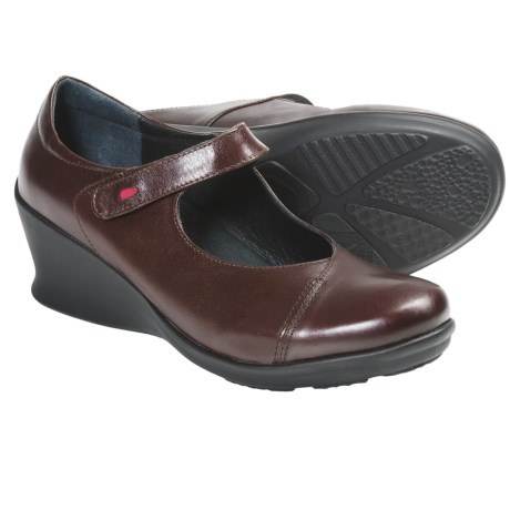 Wolky Hume Wedge Mary Janes (For Women) in Brown Brushed