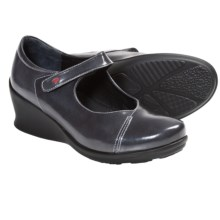 Wolky Hume Wedge Mary Janes (For Women) in Grey Patent - Closeouts