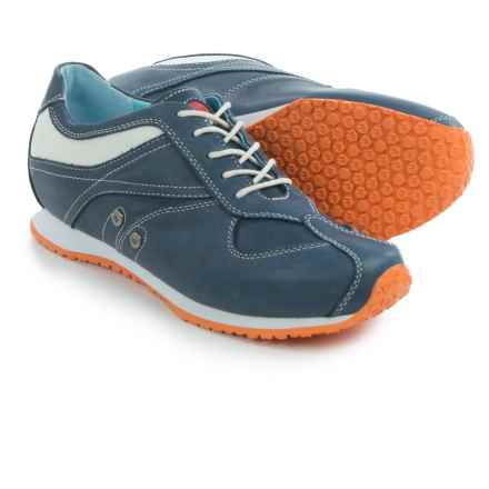 Wolky Ibrox Sneakers - Leather (For Women) in Denim Blue - Closeouts