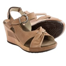 Wolky Ixia Platform Wedge Sandals - Leather (For Women) in Nude - Closeouts