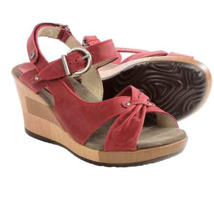 Wolky Ixia Platform Wedge Sandals - Leather (For Women) in Red - Closeouts