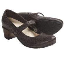 Wolky Jig Shoes - Leather, Mary Janes (For Women) in Brown Mottled - Closeouts