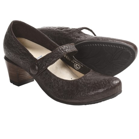 Wolky Jig Shoes - Leather, Mary Janes (For Women) in Brown Mottled