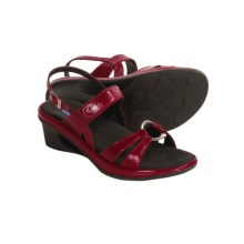 Wolky La-Di-Da Sandals - Leather (For Women) in Red - Closeouts