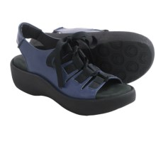 Wolky Lily Platform Sandals - Leather (For Women) in Steel Blue - Closeouts